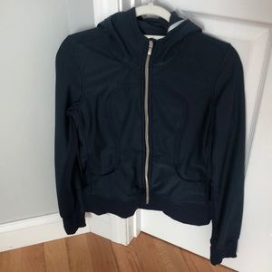 Navy lululemmon zip up hoodie size 4